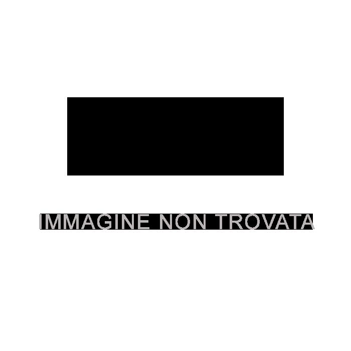 Embossed logo metal plaque leather belt