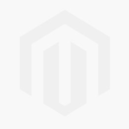 Red and blue leather museum shopper bag